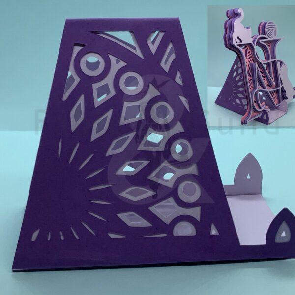 Mandala Art Card Stand Cut File