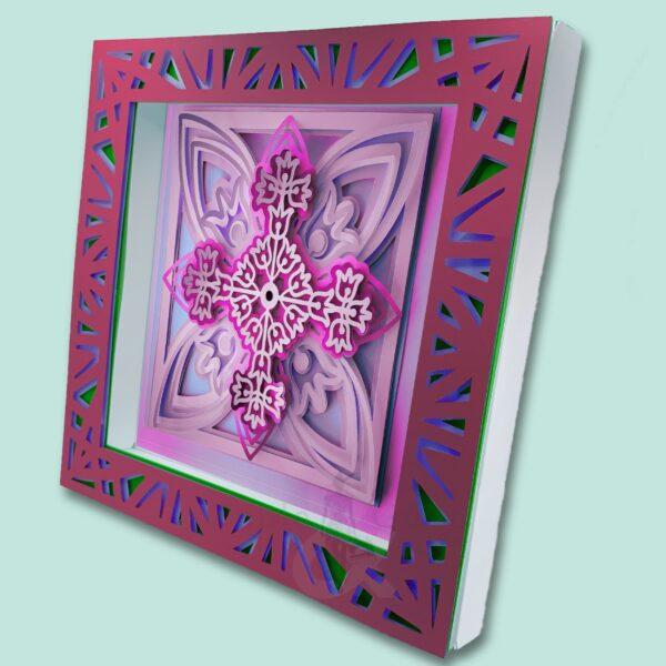 3D Mandala SVG Shadow Box Picture Frame