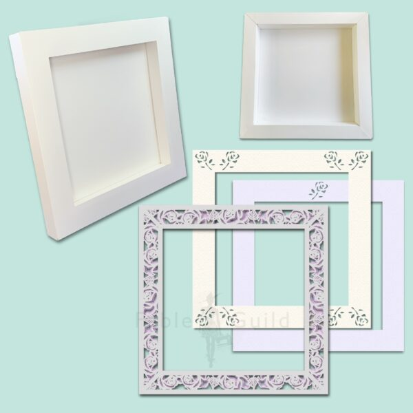 3D Wild Rose SVG Shadow Box Picture Frame