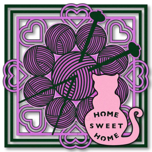 """Kitten Jo """"Home Sweet Home"""" Knit"""