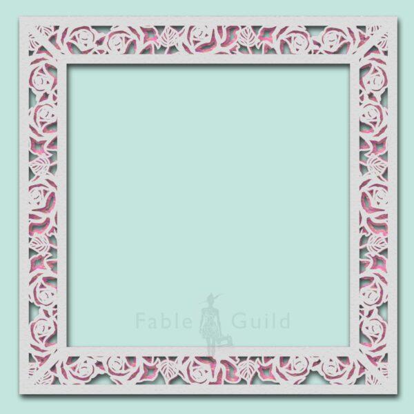 Wild Rose Decorative Frame Plate