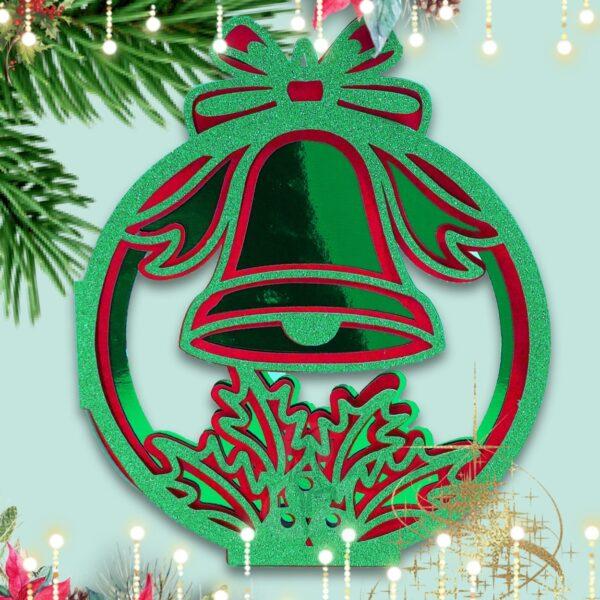 Jingle Bell Bauble Christmas Card