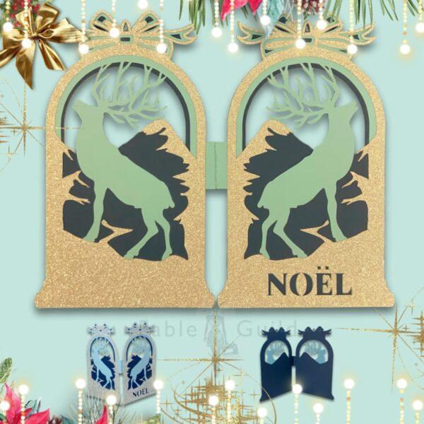 Noel Highland Christmas Card