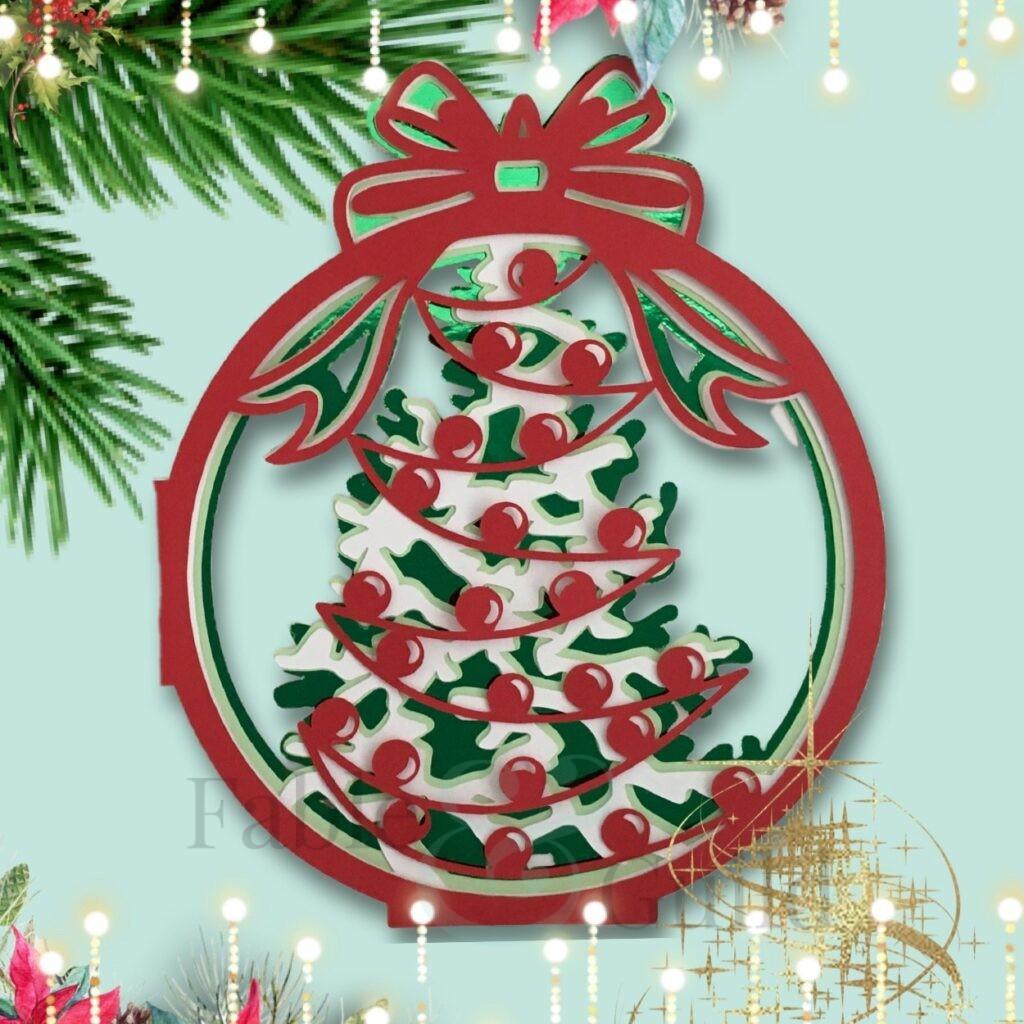 'Tis The Season Bauble Christmas Card