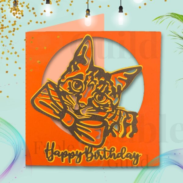 Chloe the Cat SVG Birthday Card