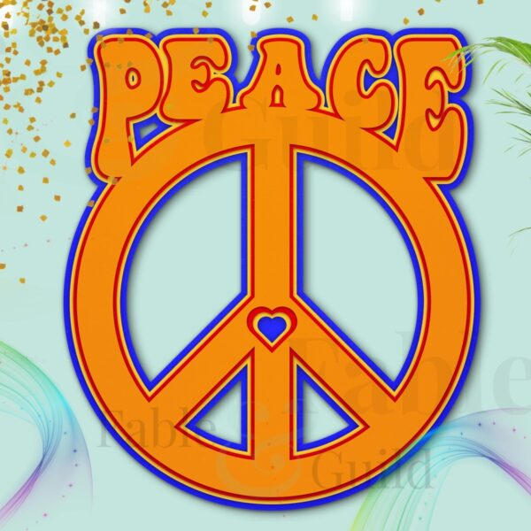 Peace Love Cut File