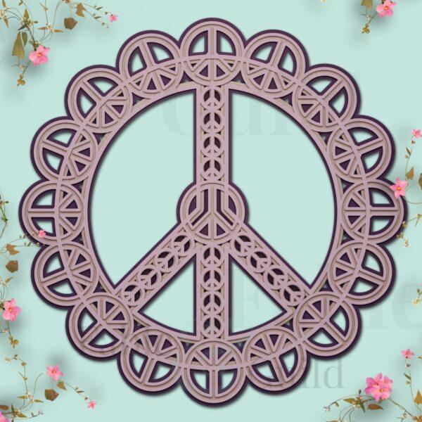 Pretty Peace Mandala Cut File