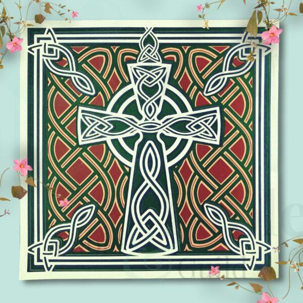 Celtic Cross Irish Pride Celtic Cross Cutting File