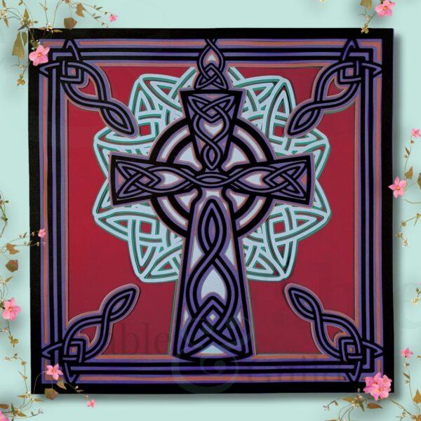 Celtic Cross - Jewel of Faith Celtic Cross Cricut Cut File
