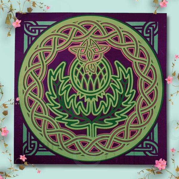 Celtic Proud Thistle - A Celtic Thistle Cut File