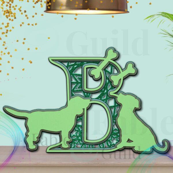SVGDiggles the Dog Letter Cut File B