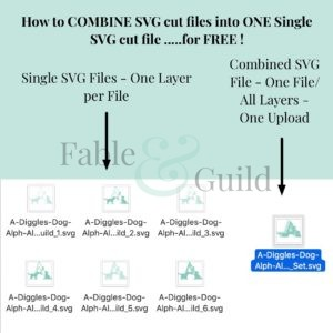 Here's How to combine SVG cut files into one single SVG file for free!