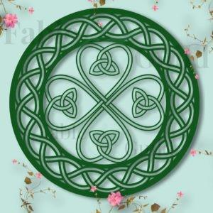 Shamrock Lucky Shield - Celtic Decal SVG