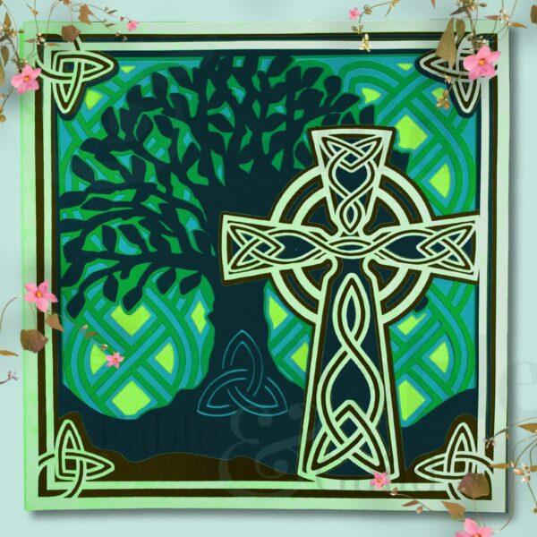 Celtic Cross Tree of Life Cut File