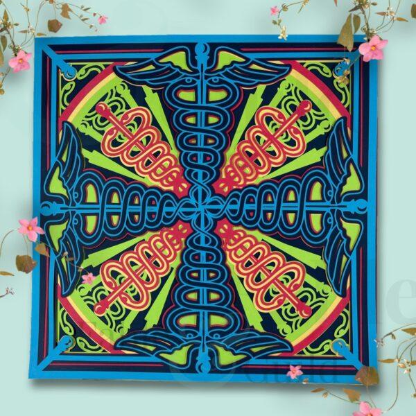 3D Caduceus Mandala Cut File