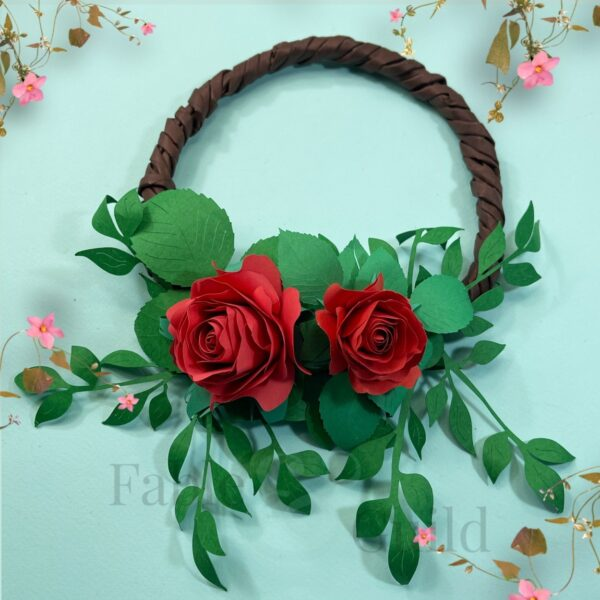 The Ava - A Paper Wreath with Foliage