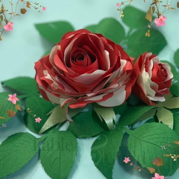 Grandiflora Pop Rose - Paper Flower Template