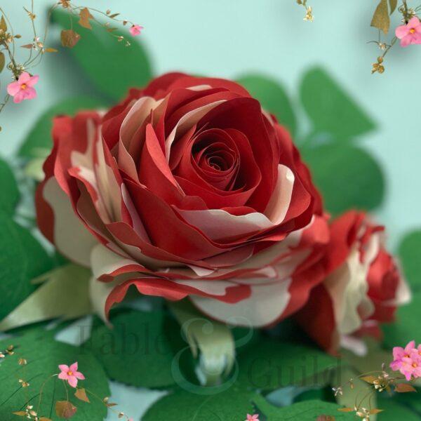 Grandiflora Pop Rose - Paper Rose Template