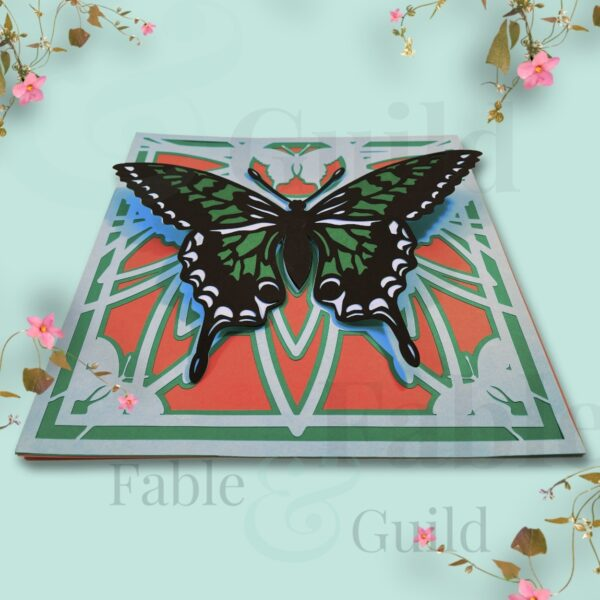Good Fortune Butterfly Mandala SVG