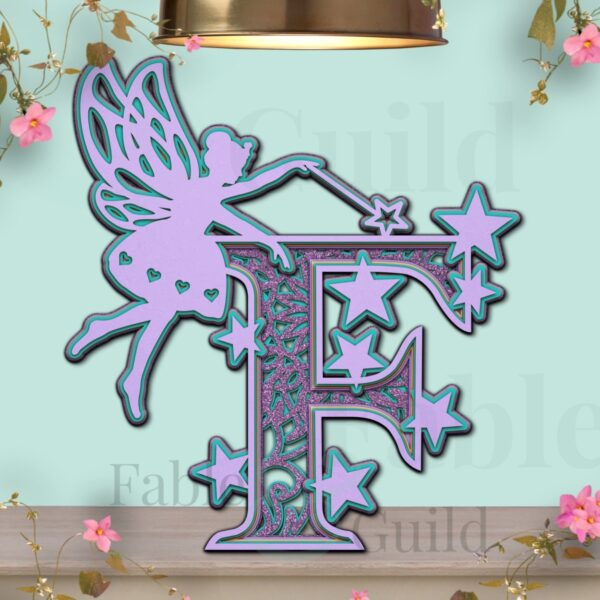 Fairy SVG Letter Template F