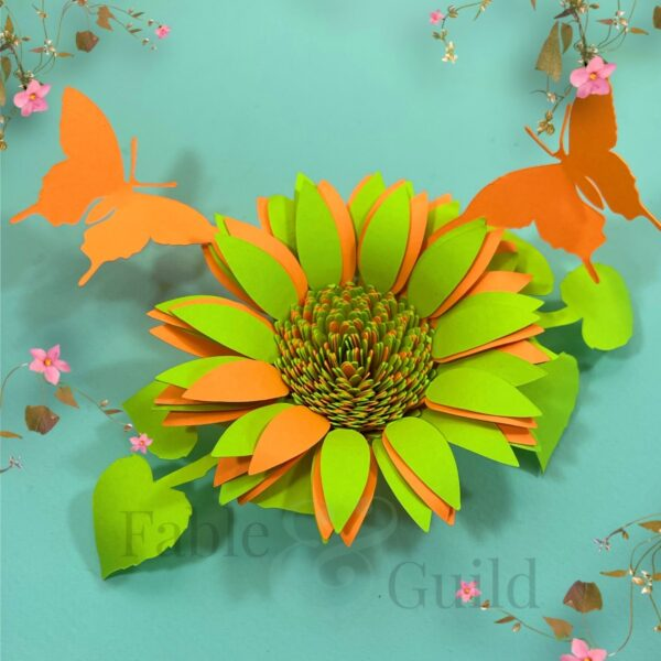 Butterfly Rolled Sunflower Template