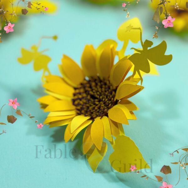 3D Rolled Sunflower SVG / Cricut Sunflower SVG