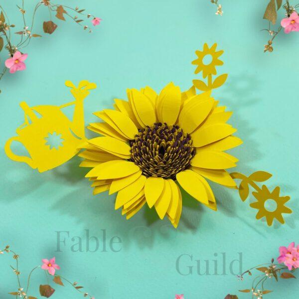 SVG Rolled Paper Sunflower Garden