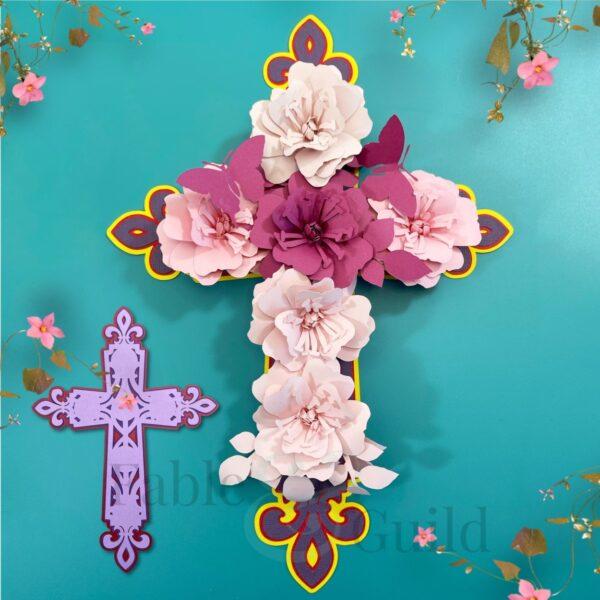 Cricut Rolled Flower Template