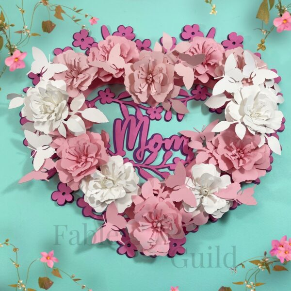 Wild Rose & Butterfly Rolled Flower SVG Templates