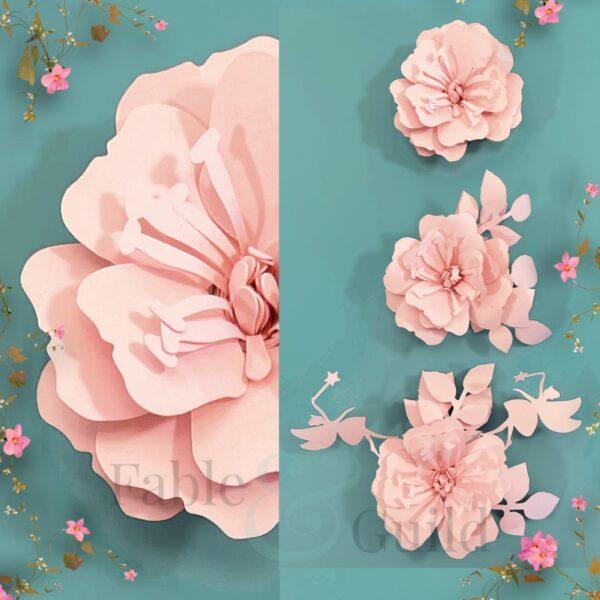 Rolled Paper Rose SVG Files