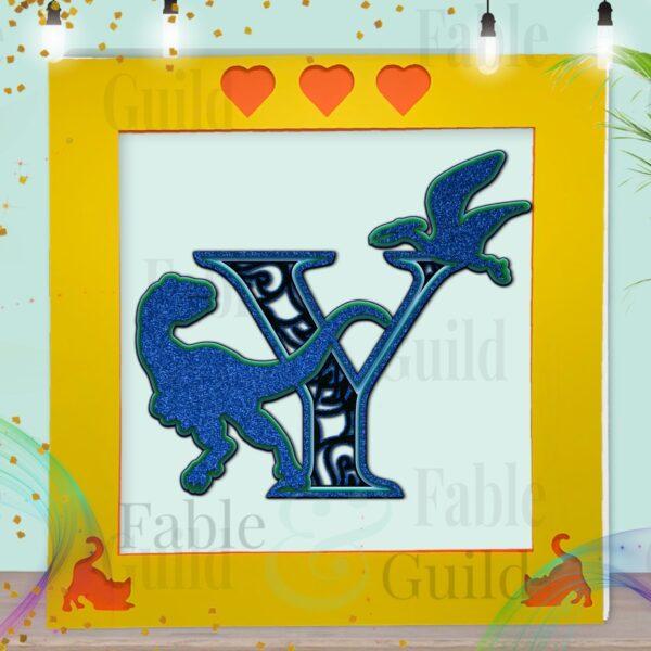 Dinosaur SVG Letter Template