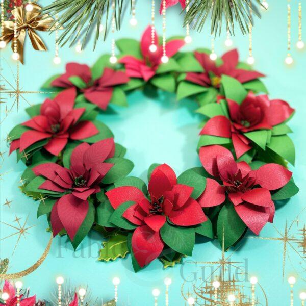 The Festive Poinsettia (Christmas Rolled Flower Cut File)