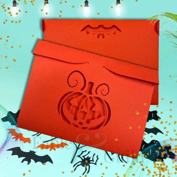 Halloween Envelope SVG Template
