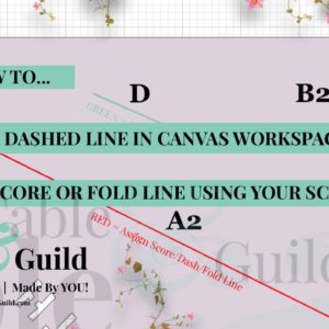 Here's How to Assign Score Line Canvas Workspace (Brother ScanNCut) using the Dash Line option.