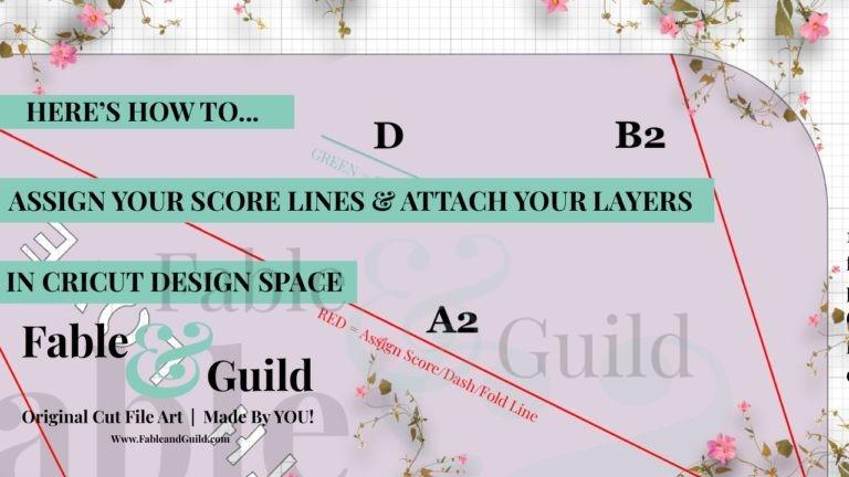 Assign Score Lines in Cricut Design Space