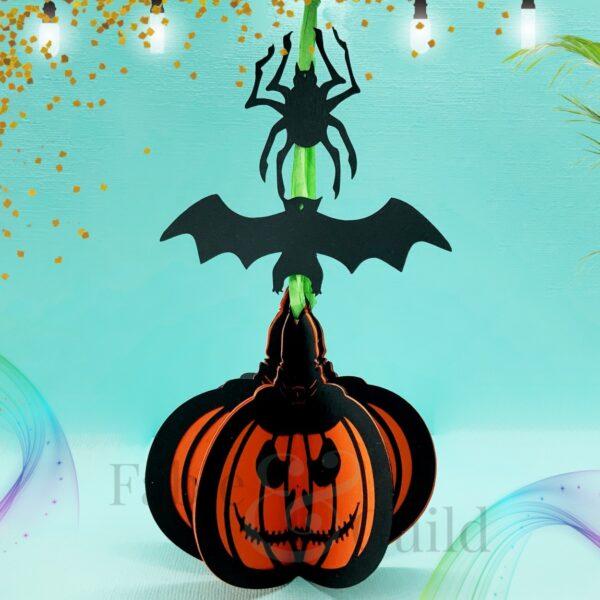 3D Halloween Bauble SVG Cut File