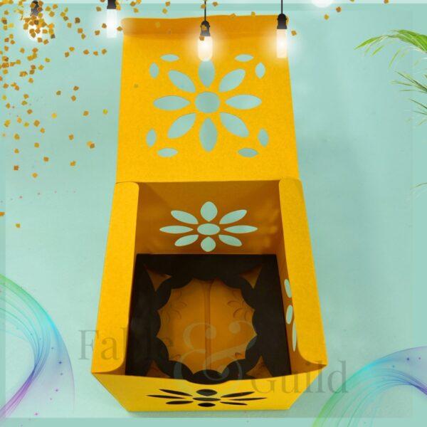 Sunshine in a Box (Square SVG Gift Box Template)