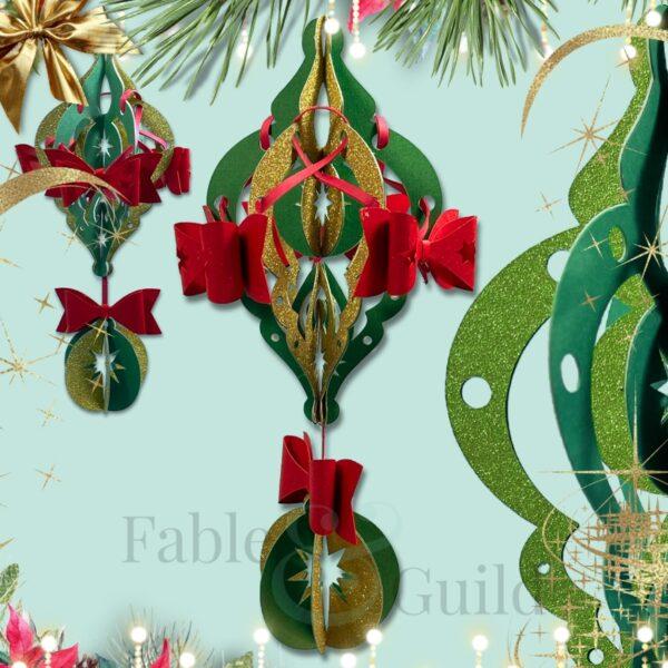 3D SVG Christmas Bauble Cut File
