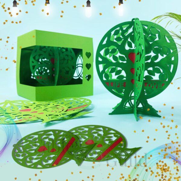 3D Tree of Life SVG Monogram Cut File