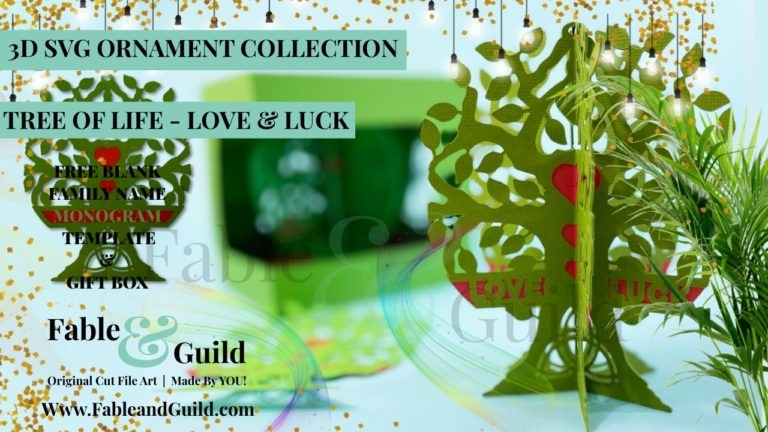 Tree of Life - Love & Luck (A sneaky peak at our 3D Ornament SVG files for Cricut) - 3d ornament svg files for cricut